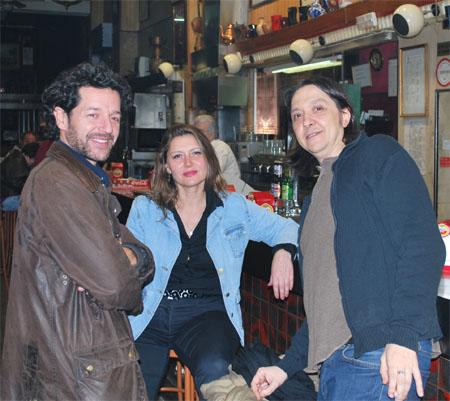 Julio Arevalo,  Santiago Lorenzo y amiga